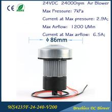 24 V 150 W corriente continua sin escobillas aspirador soplador de aire sembradora soplador