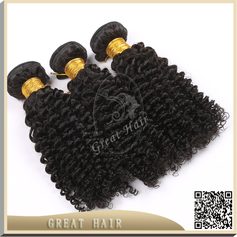 Great Hair FREE SHIPPING kinky curly hair, 7A+ unprocessed virgin peruvian hair with 3pcs/lot, virgin hair extension()
