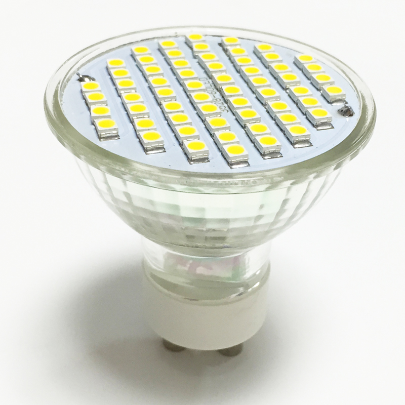 NEW LED Spotlight GU10 lamp 4W AC 220V 110V Heat-resistant Glass Body 3528 SMD 60LEDs Cold White/ Warm White LED Bulbs lighting(China (Mainland))