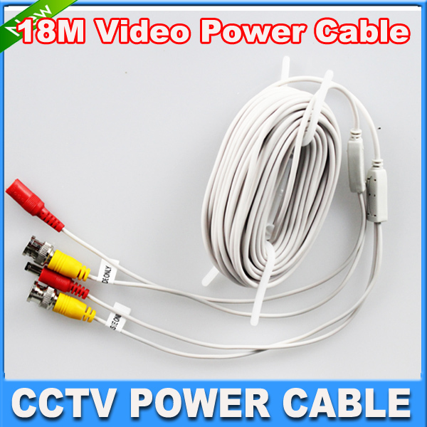 Гаджет  BNC cable 60feet Power video Plug and Play Cable cctv power video cable for CCTV camera system None Безопасность и защита