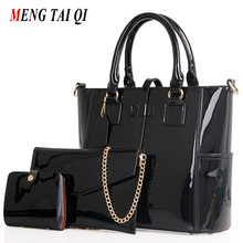Buy Women Bag 2017 Luxury Brand Handbags Leather Women Messenger Bags Chain Shoulder Bags Composite Bag 3 Sets Big Size Tote Fashion for $32.43 in AliExpress store
