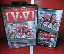 Sega games card – V-V / GRIND Stormer with Box and Manual for Sega MegaDrive Video Game Console 16 bit MD card