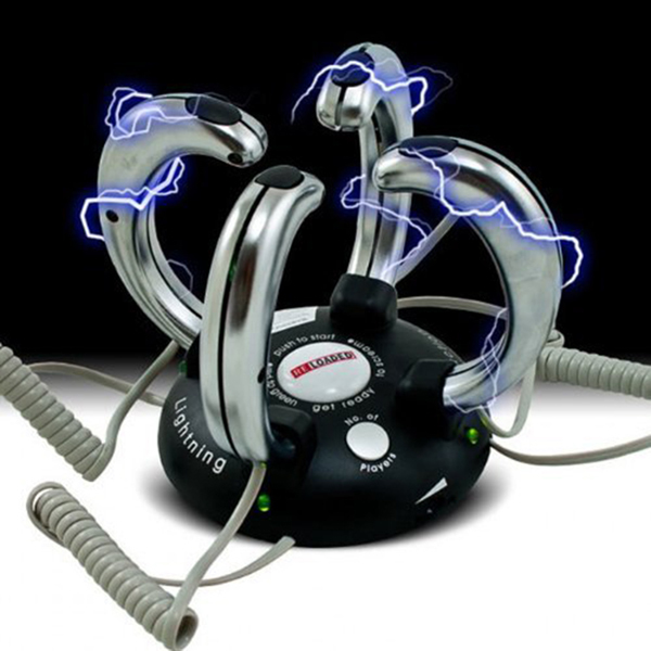 NEW ARRIVAL Electric Toy FOR 2-4 People Lightning Reaction Revenge Electric Shock Game(China (Mainland))