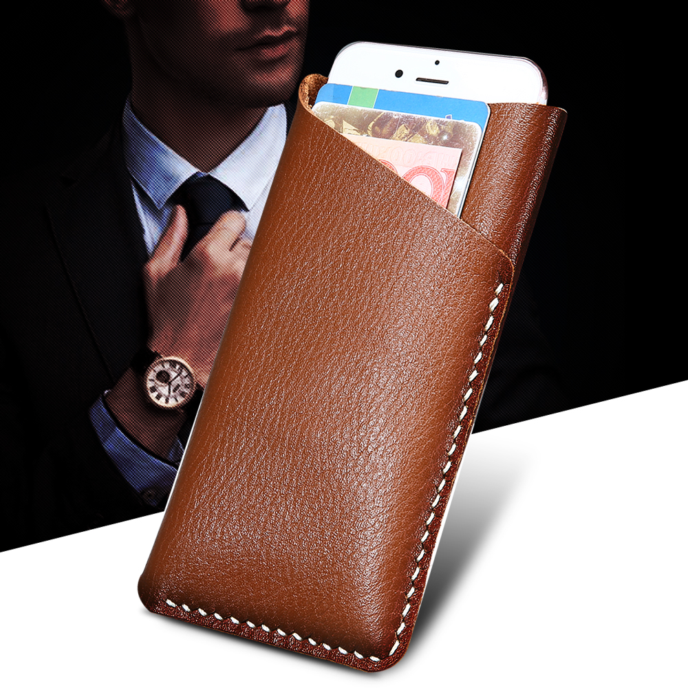 """4.7"""" Universal Pouch Wallet Slide Dip Leather Pouch Case For iphone 5 5S SE 6 6S 7 Phone Bag Sewing Splice Design Cover Case(Hong Kong)"""
