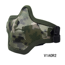 7 Color Men Tactical V1 Double Band Half Face Protective Wire Mesh Diving Mask For Outdoor Sport Diving CL9-0023B(China (Mainland))