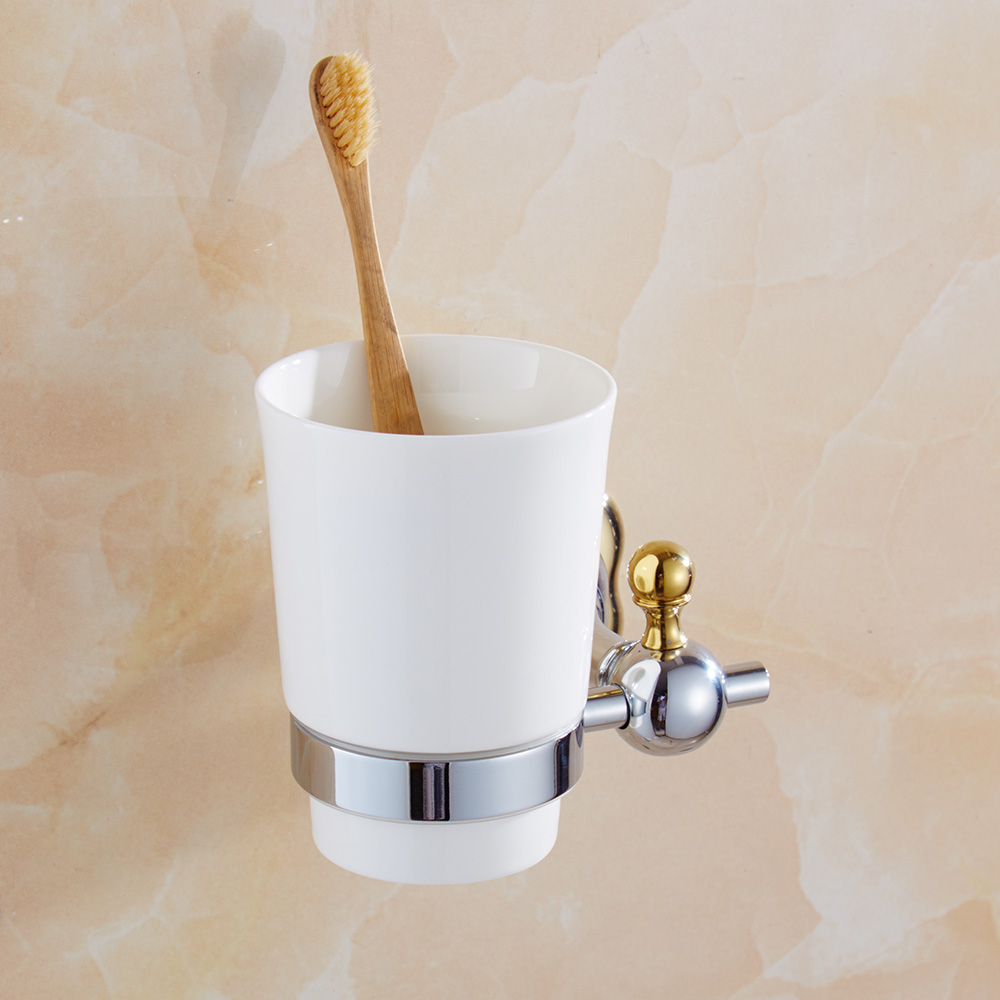 Unique toothbrush holder promotion shop for promotional for Gold and silver bathroom accessories