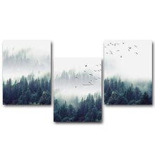 FGHGF Nordic Forest Landscape Wall Art Canvas Poster and Print Canvas Painting Decorative Picture for Living Room Home Decor(China)