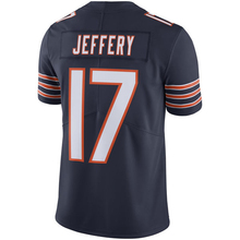 Embroidery Men's Alshon Jeffery 17# Jersey Adult Navy Color Rush Limited Jeffery Jerseys 100% Stitched Wholesale Free Shipping(China (Mainland))