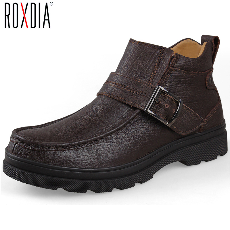 big size winter boots genuine leather s snow boot