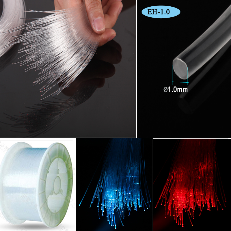 Manufature spool 700m roll High quality 1.5mm PMMA Plastic Fiber Optic end glow cable for Ceiling lighting decoration(China (Mainland))