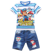 Paw Dog Patrol Children Girls Boys Cartoon sets Costume Clothing set for Kids Patrol Clothes Girls