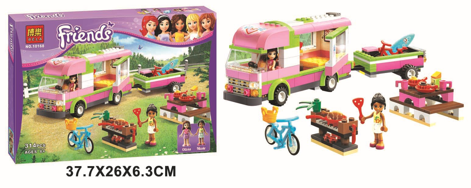 Six one girl friend friends assembled block series children's educational toys 10168(China (Mainland))