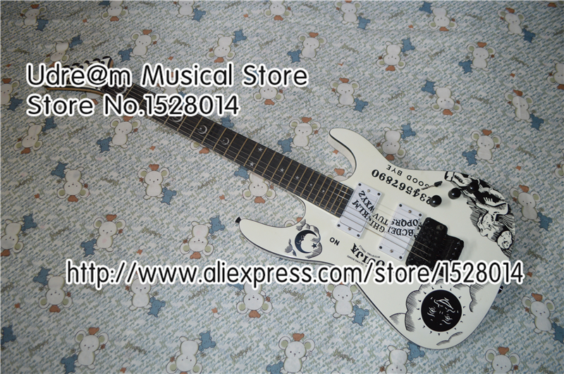 Top Selling White ESP Electric Guitar DIY Top Guitar Body With Black Hardware China Guitars Body & Kits Custom Avaialble(China (Mainland))