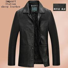 2015 New arrival winter jacket men genuine leather jacket men leather coat men sheepskin jacket casual leather suit(China (Mainland))