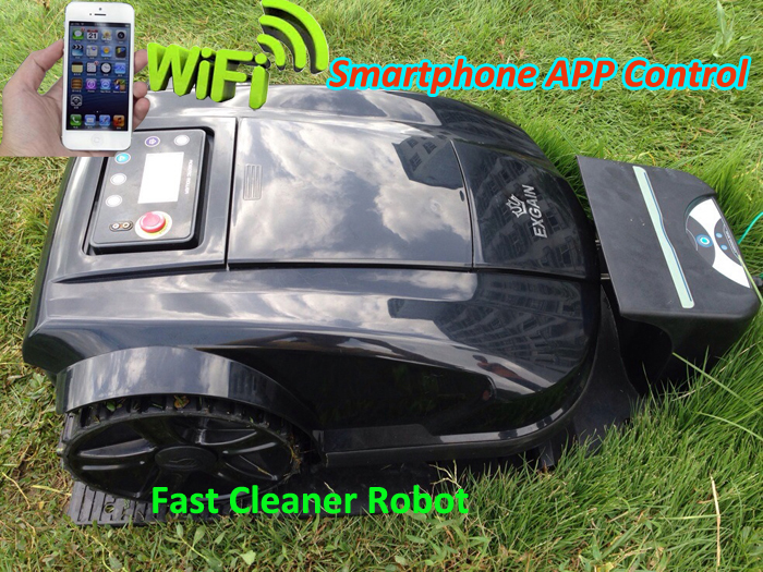 Newest 4th Generation Smartphone WIFI APP Control Intelligent Robot Lawn Mower With Newest Subarea FunctionWater-Proof Charger(China (Mainland))