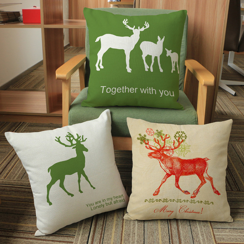 Ikea decorative throw pillow cushion cover scandinavian lumbar pillow decorate Animal cushions home decor car-styling