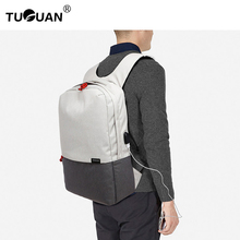 Buy TUGUAN Fashion Women's Backpack USB Plug Men Canvas Backpack Schoolbag Waterproof Korean School Bags Bagpack Men Back Pack for $28.75 in AliExpress store