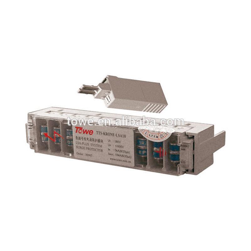 SPD TOWE AP LSA Plus 5kA data group telephone surge protective device(China (Mainland))
