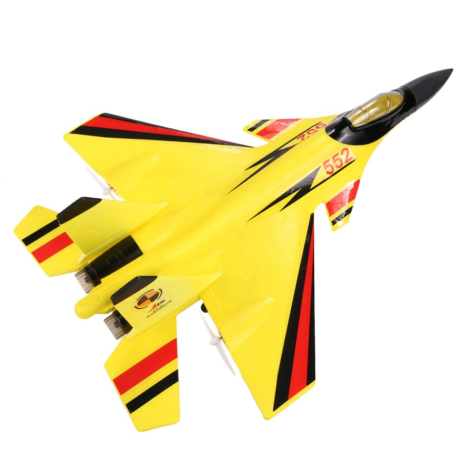 2.4G 2CH FX861 Remote Control RC Airplane Flying Toy EPP Foam Glider EU Plug Charger Yellow 66