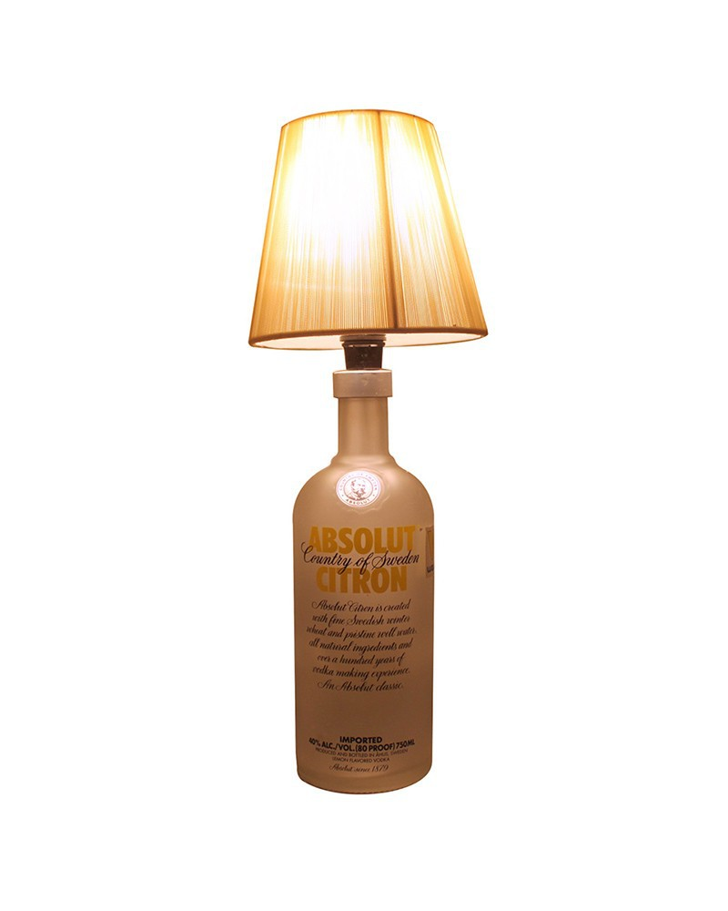 Led lampe de table blanc transparent absolut citron for Table pour lampe de salon