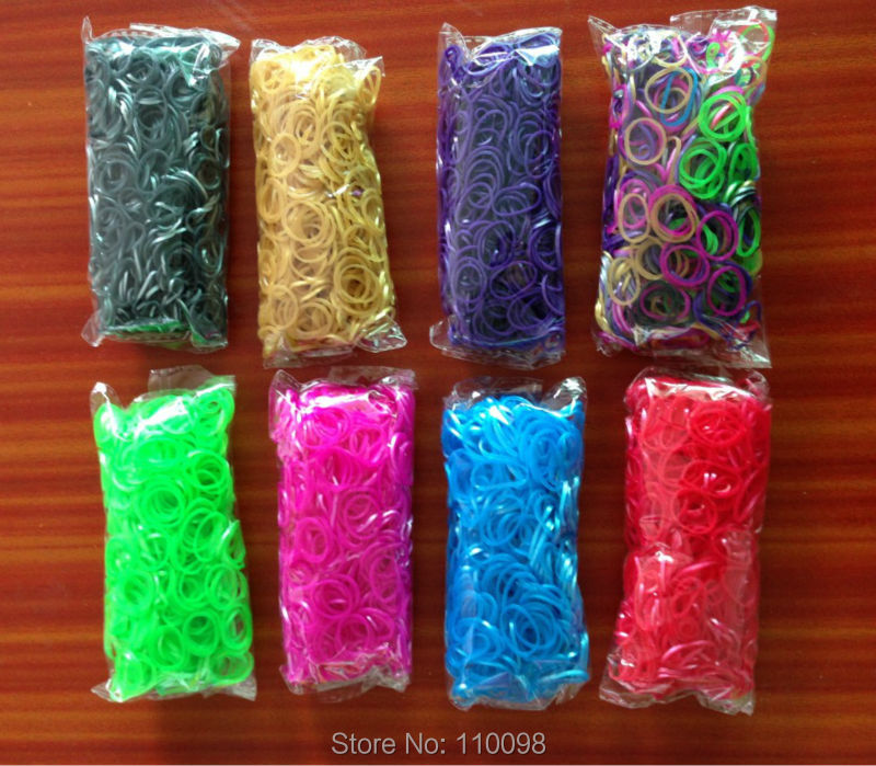 Loom Bands - 600 Metallic Rubber Band Refill Value Variety Pack with Clips - Compatible for loom kit(China (Mainland))