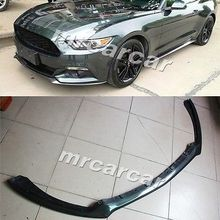 Carbon Fiber Front Lip Chin Spoiler Body Kit Fit for Ford Mustang 2015 Coupe 2Door(China (Mainland))