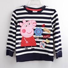 Buy shirt children cartoon pig flower Girl t-shirt Girls tees shirts sale super kids summer clothes cotton free for $6.79 in AliExpress store