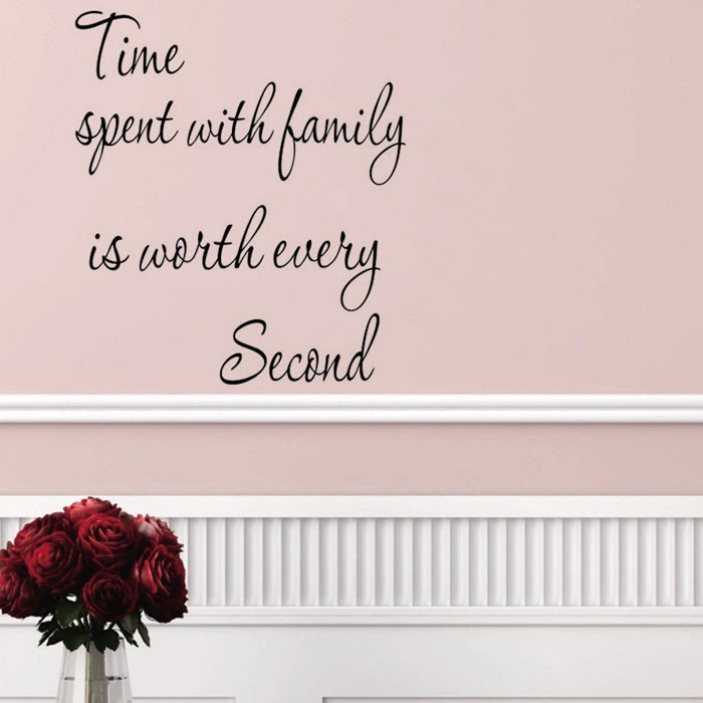 SPLENDID Hot Time Family Bay Home Decoration Wall Decals Creative Vinyl Wall Stickers Home Warm Decoration Wallpapers