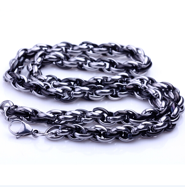 2015 Hot Stainless Steel Chain Neckalce Mens Necklaces Fashion Men Jewelry Titanium Necklace gold/silver/black color gift,kn-01(China (Mainland))
