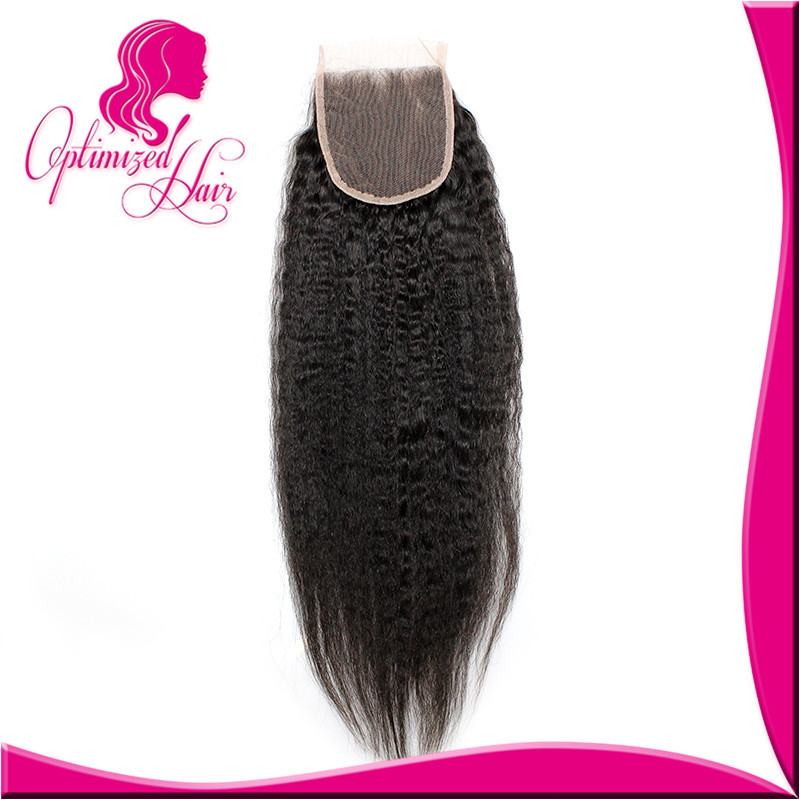Peruvian Virgin Hair Closures Kinky Straight Lace Top Closure 4*4 Side Middle 3 Way Free Part Human Lace Closure Bleached Knots<br><br>Aliexpress