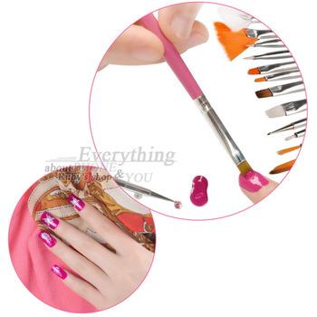 15 pcs professinal Nail Art Brush Set Design Painting Pen 3D Beauty 100% Brand New Hot Selling pink