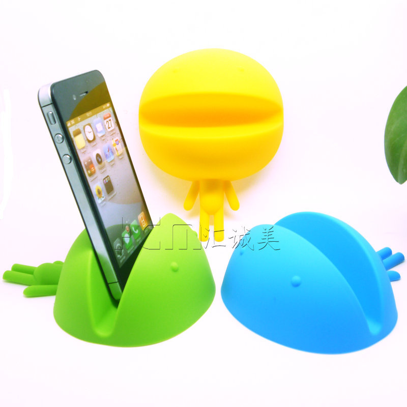 big head and mouth baby shape silicone cell phone holder Universal mini desktop stand support office supplies product free ship(China (Mainland))