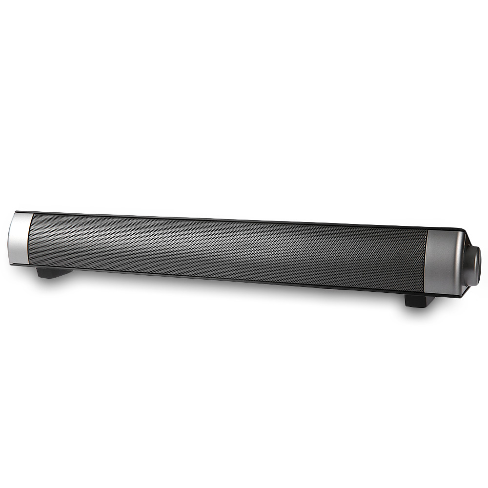 New Arrival LP - 08 Portable Slim Magnetic Sound Bar Stereo Hands-free Wireless Bluetooth Speaker Black Color for Desktop Laptop(China (Mainland))