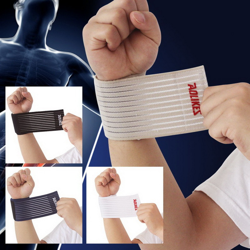 AOLIKES 1 Pcs cotton fitness elastic bandage hand wrist strap wrap sport wristband support gym wrist protector carpal tunnel(China (Mainland))