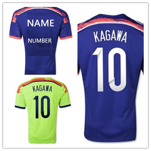 Free Shipping Top Thai Quality Japan jersey 2014 home away KAGAWA Japan Soccer football Shirt honda endo nagatomo okazaki uchida(China (Mainland))