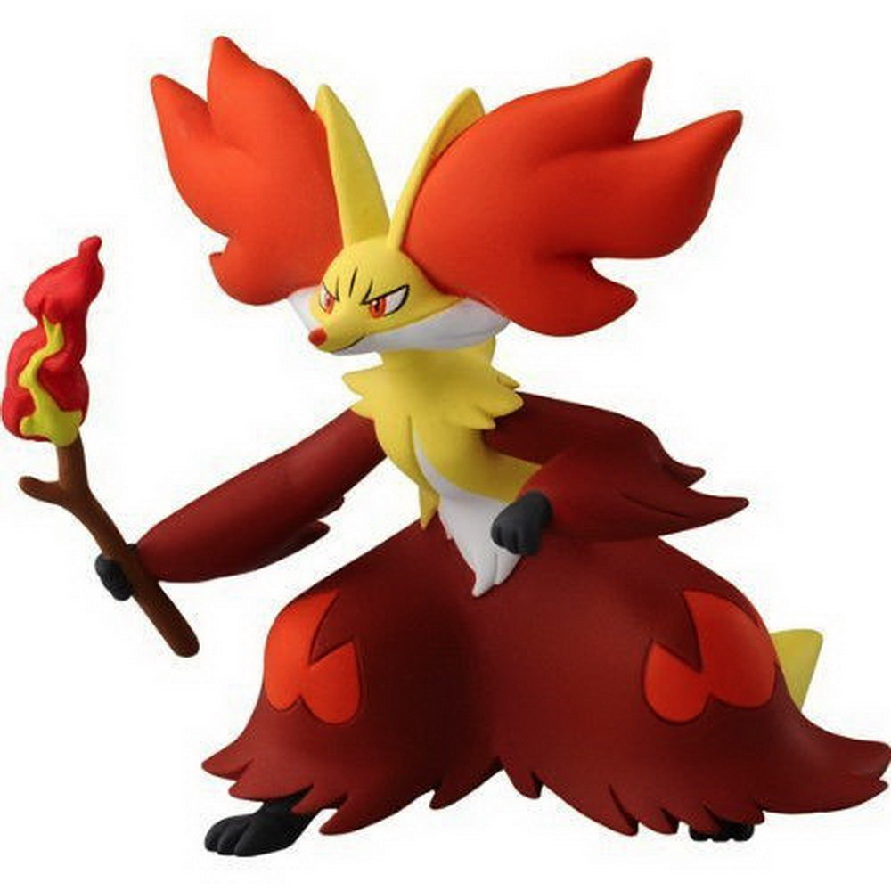 """New Authentic Japanese Toy Pokemon X Y Monster Collection 2.5"""" Action Figure PS-08 Delphox (China (Mainland))"""