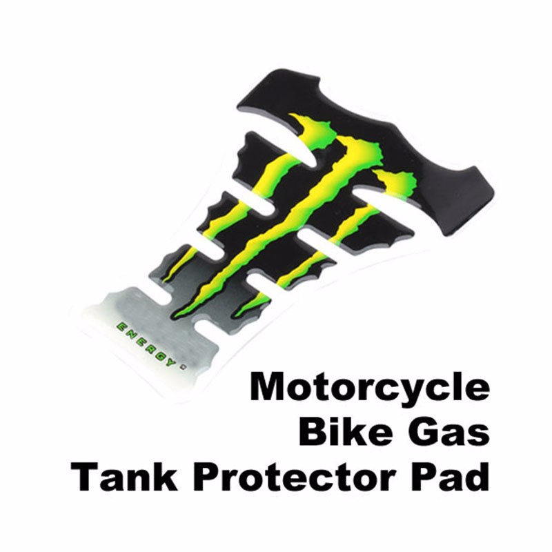 New Arrival Cool Flame Motorcycle Gas Tank Pad Sticker Carbon Fiber Tankpad Protector Bicycle Motorcycle Sticker Green BHU2 (1)