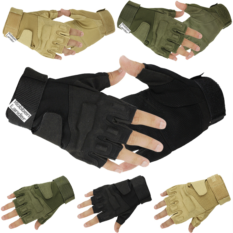 Outdoor Sport Fingerless Military Tactical Airsoft Hunting Cycling Motorcycle Half Finger Gloves - Feiyang Import & Export Co., Ltd store