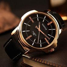 Rose Gold Wrist Watch Men 2016 Top Brand Luxury Famous Male Clock Quartz Watch Golden Wristwatch Quartz-watch Relogio Masculino(China (Mainland))