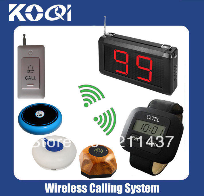 Waiter service paging call system of sample order W 4 kinds of call bell B O1 D1 AB and 2 kinds of signal receiver 1 pc of each(China (Mainland))