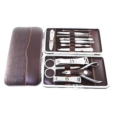 Stainless Nipper Cutter Nail Clipper Pedicure Manicure Set Kit Case 12 in 1 Set(China (Mainland))