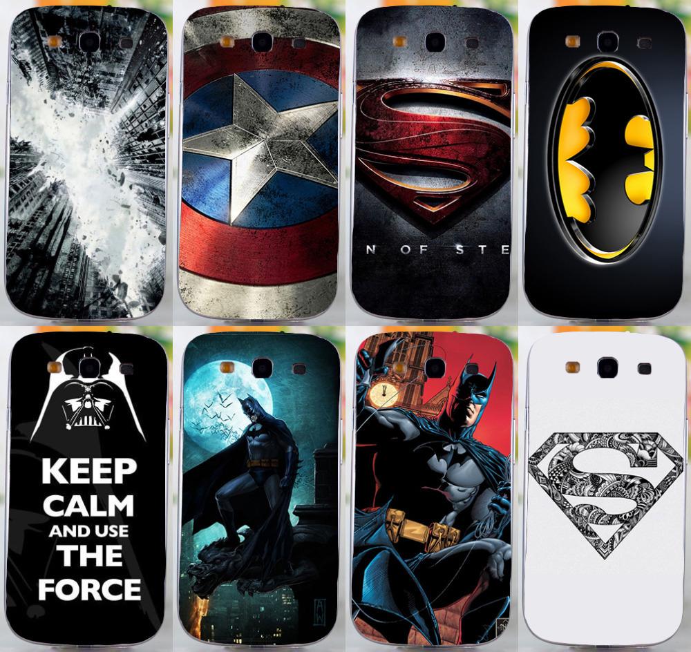 COOL Batmen BAT MAN SuperMen America Caption hard back cover case For Samsung galaxy s3 i9300 mobile phone case freeshipping(China (Mainland))