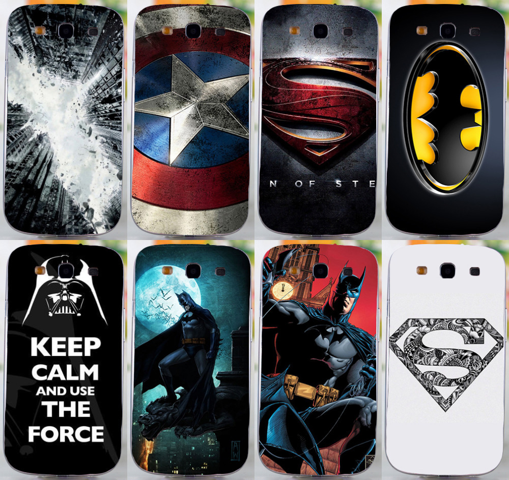 COOL Batmen BAT MAN SuperMen America Caption hard back cover case For Samsung galaxy s3 i9300 mobile phone case freeshipping(China (Mainland))
