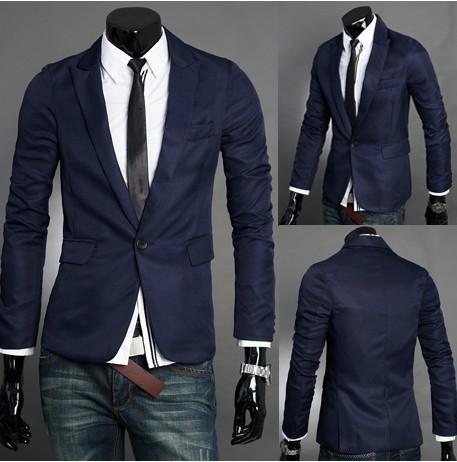Пиджаки лучшие продажи! Стильный мужчины осень с рукавом отложным воротником мода ...