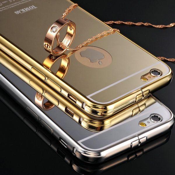Tomkas Ultrathin Mirror Aluminum Mobile Phone Case For iPhone 6 4.7 inch Luxury Acrylic Back Cover For iPhone 6 Plus 5.5 inch(China (Mainland))