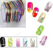 10 PCS Rolls Striping Tape Lines Nail Sticker Nail DIY Kit Nails Art UV Gel Tip
