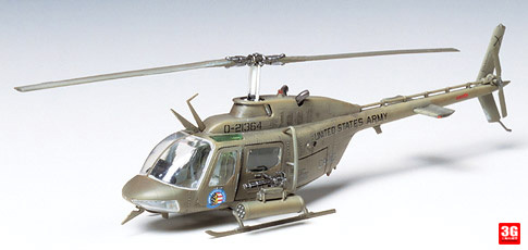 model Tamiya model 60712 Bell aircraft type OH58 Kiowa helicopter MD(China (Mainland))