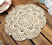 Set of 20 pieces  Shabby Chic Vintage Look Round Crocheted Doilies(China (Mainland))