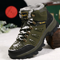 2016 warm winter shoes for outdoors walking climbing camouflage waterproof high top sneakers breathable height increasing