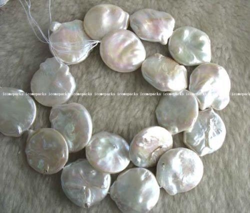 "freshwater pearl coin reborn keshi nature 15.5"" pearl beads(China (Mainland))"